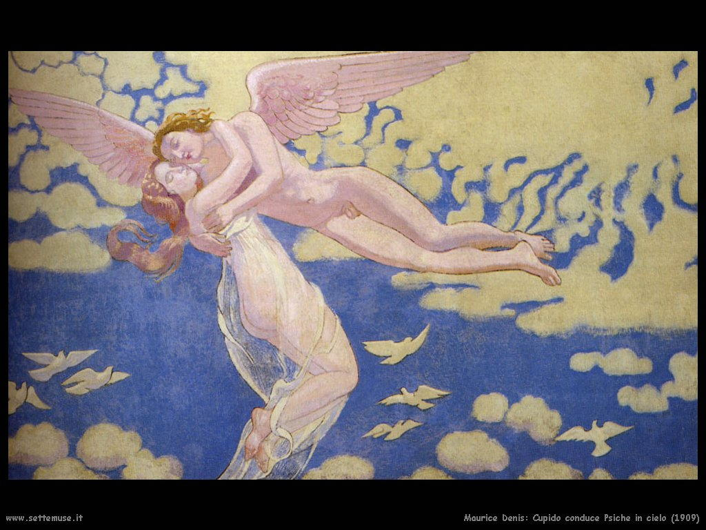 maurice_denis_cupido_conduce_psiche_in_cielo_1909