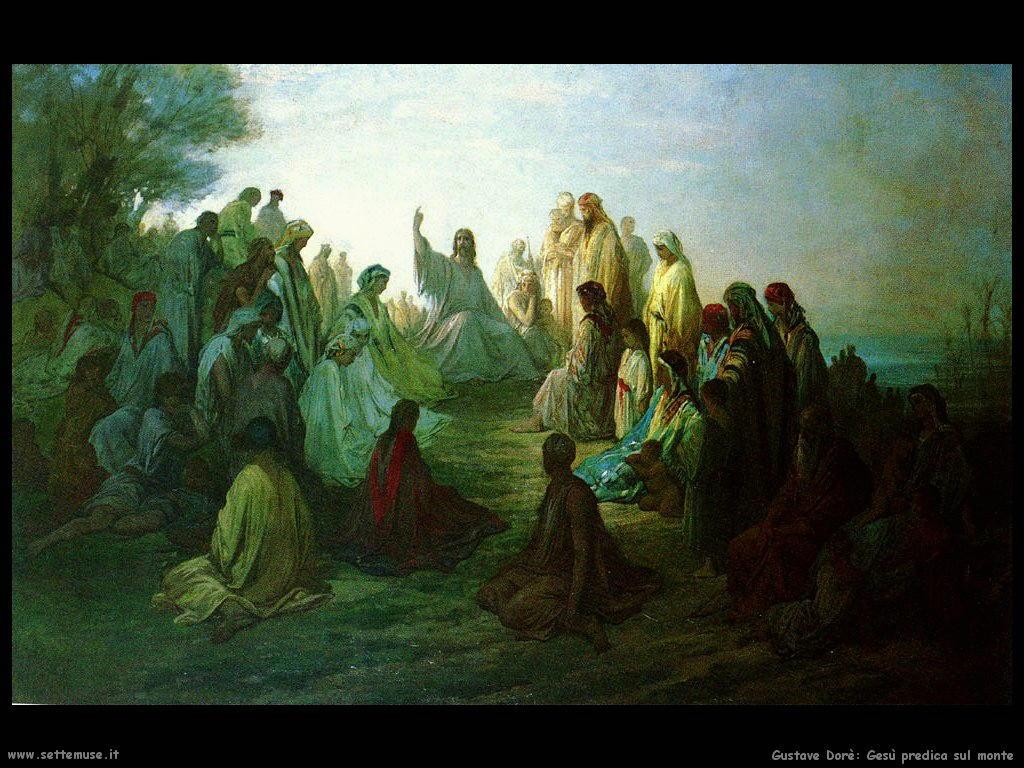 Dore Gesu predica sul monte