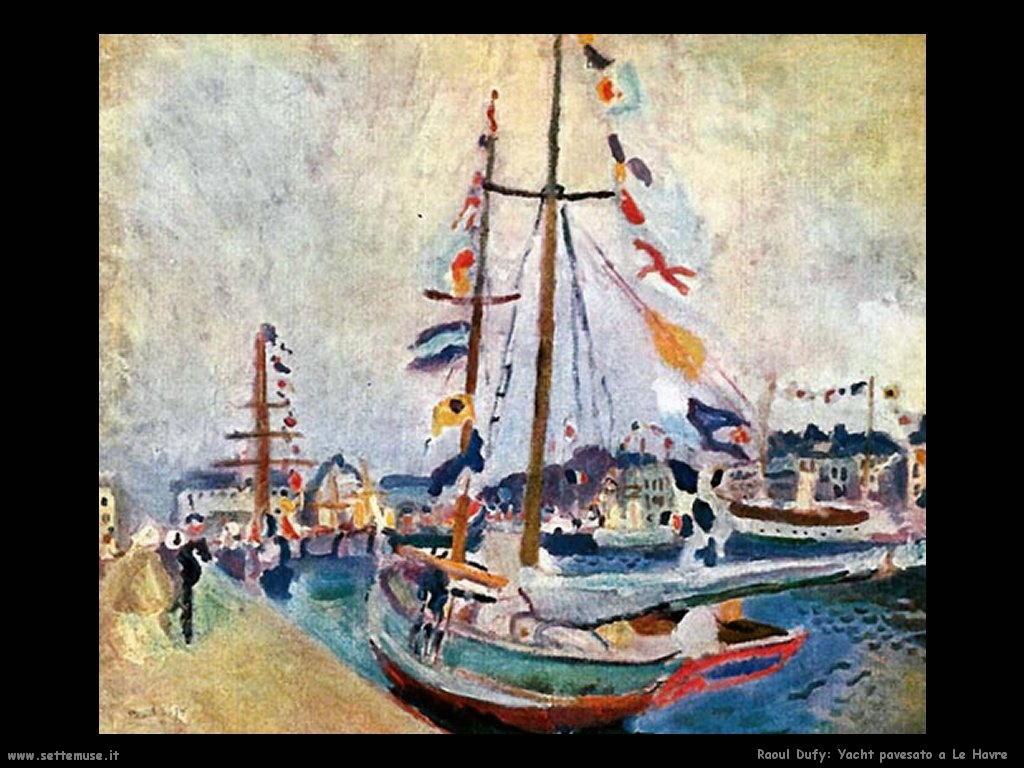 raoul_dufy__yacht_pavesato_a_le_havre