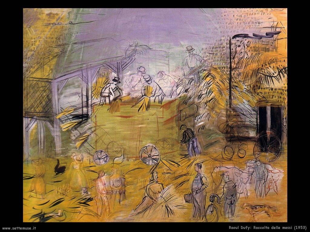 raoul_dufy_raccolta_delle_messi_1953