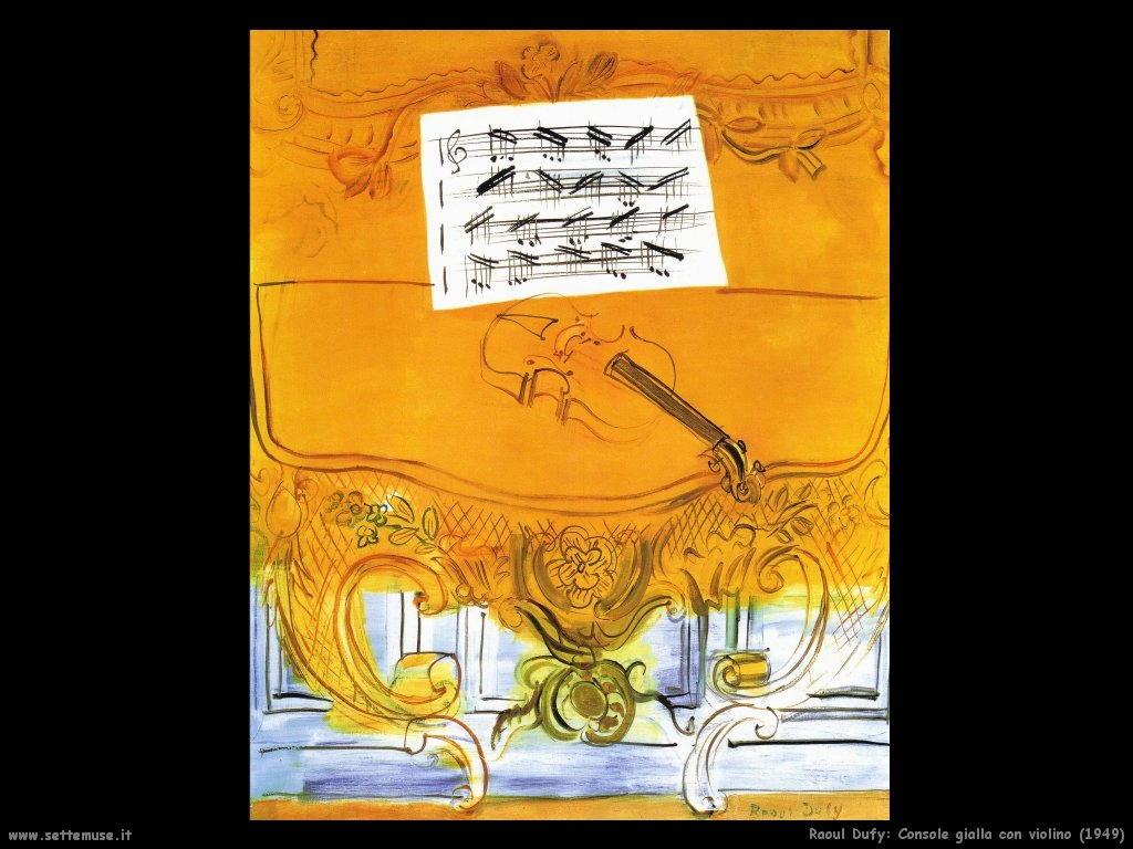 raoul_dufy_console_gialla_con_violino_1949