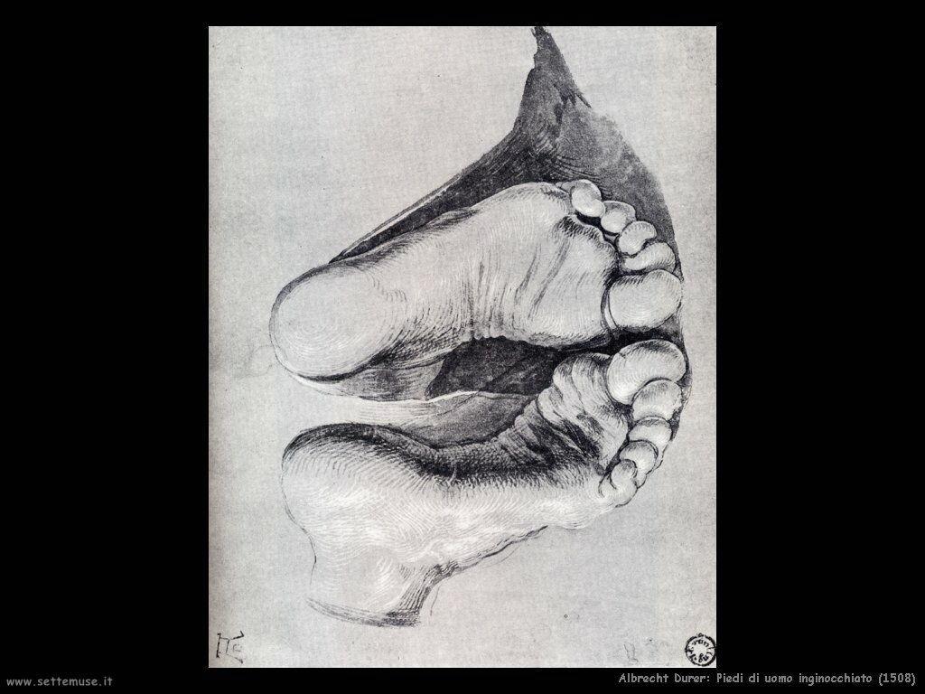 Piedi di uomo inginocchiato (1508)