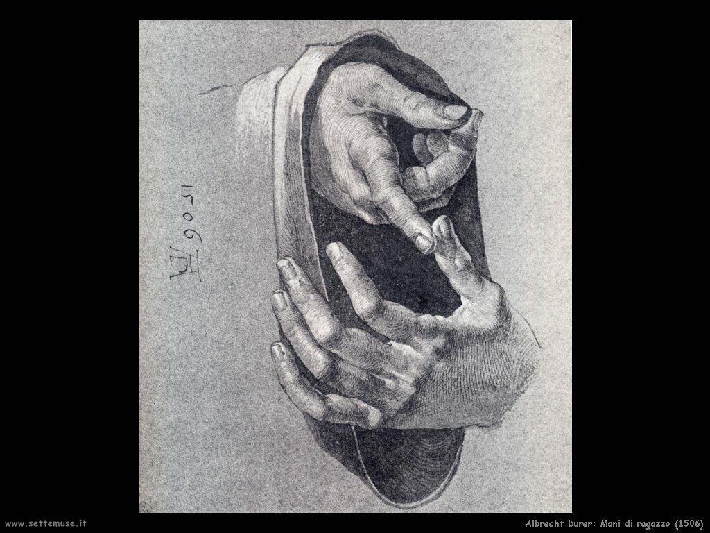 Mani di ragazzo (1506) - Durer