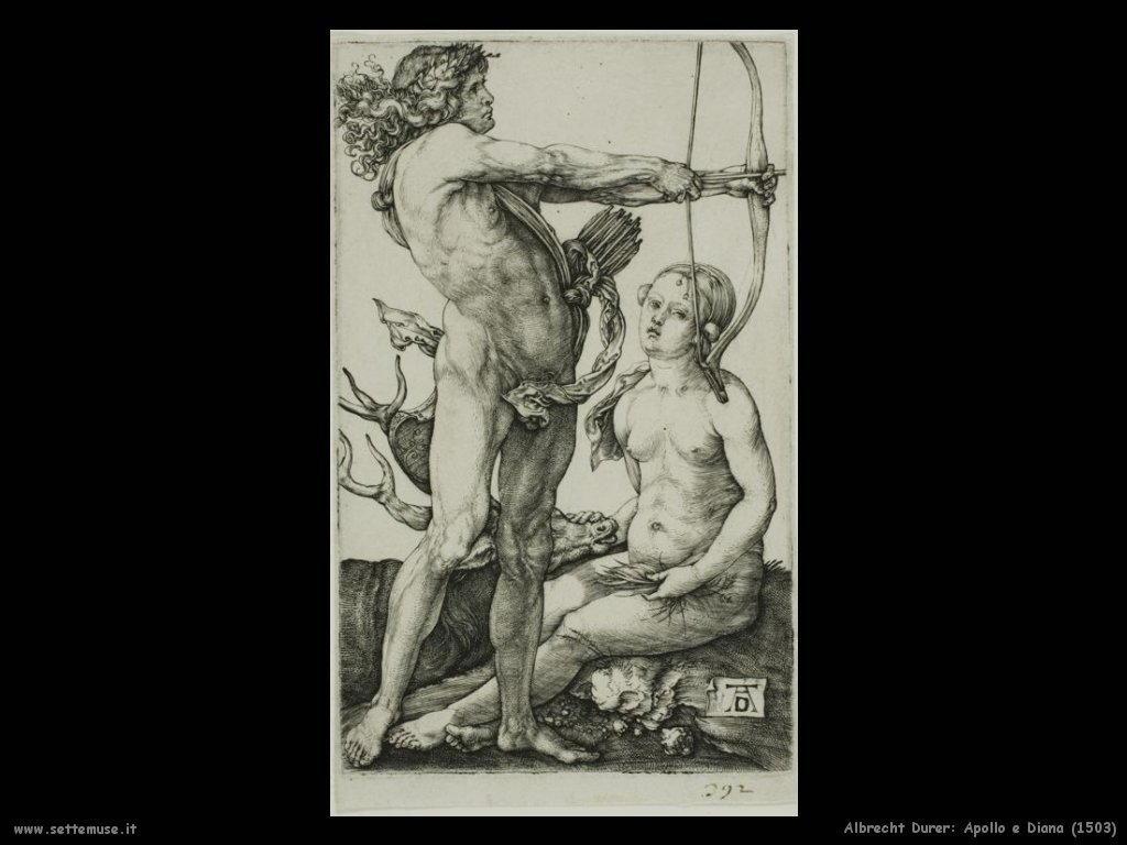 Durer Apollo e Diana