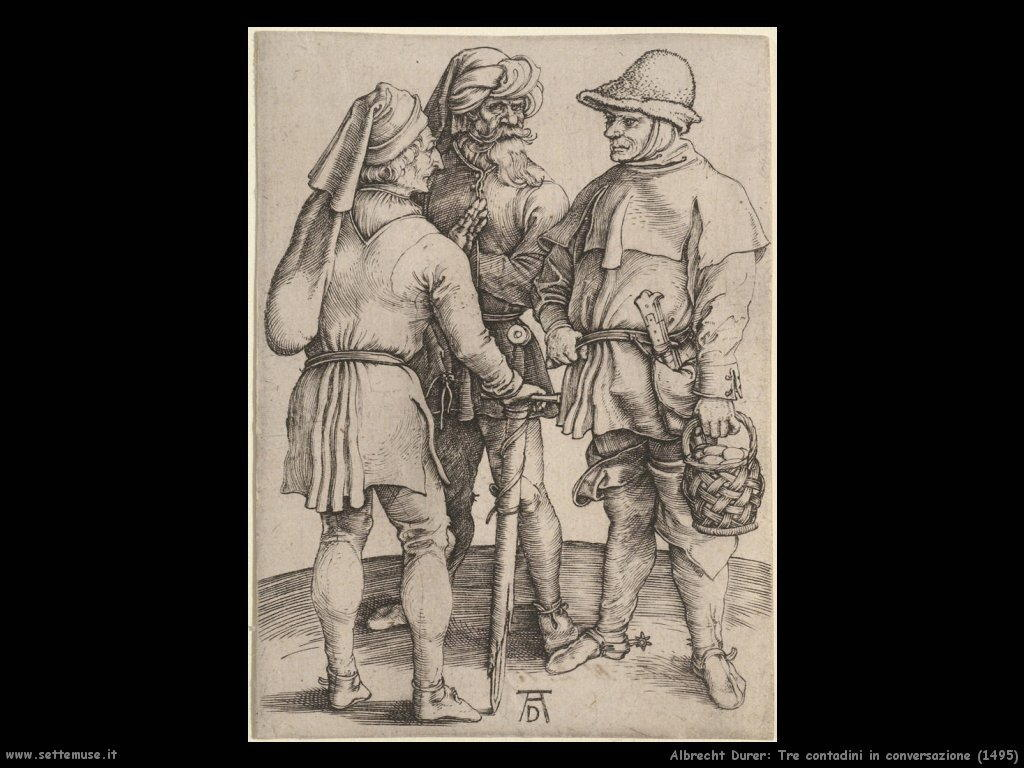 Tre contadini in conversazione (1495)