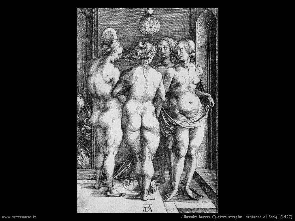 Quattro streghe, sentenza di Paride (1497)
