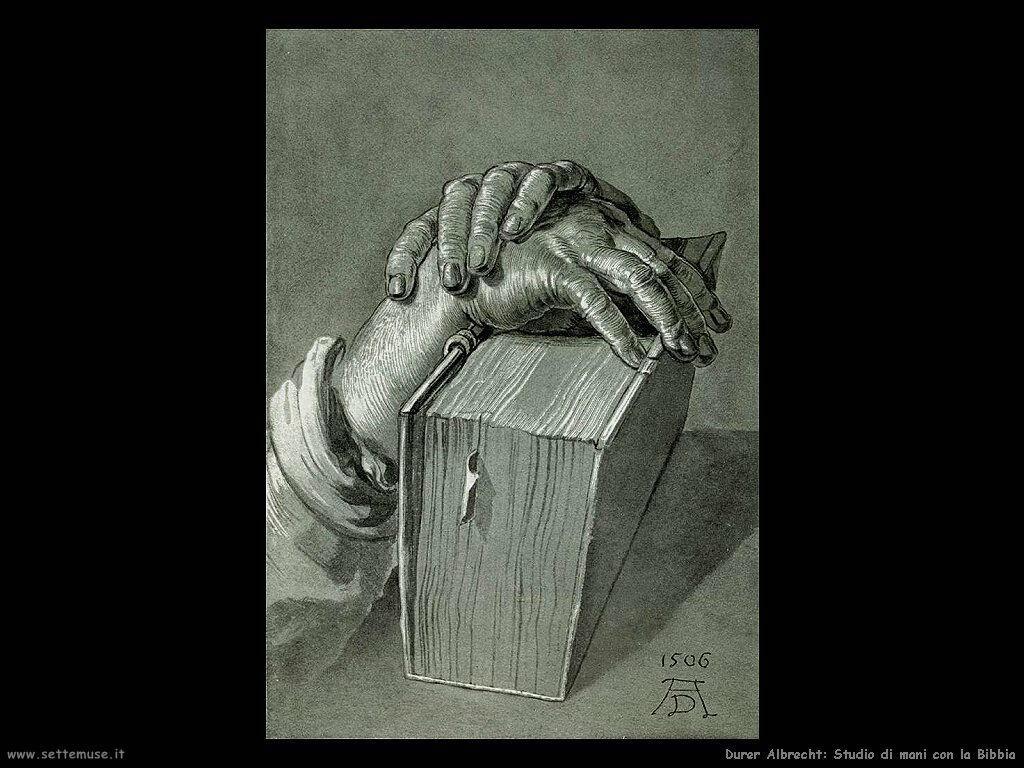 studio mani con bibbia Durer