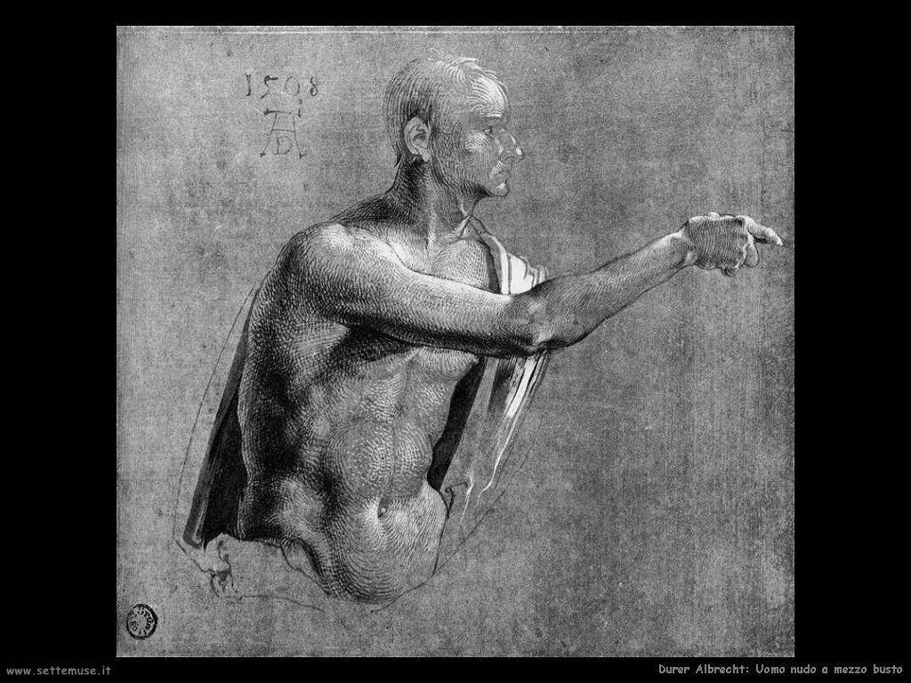 Uomo nudo a mezzo busto