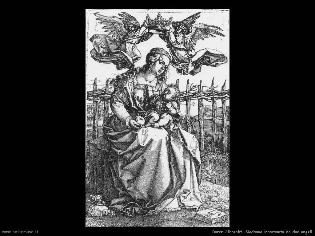 Madonna incoronata da due angeli