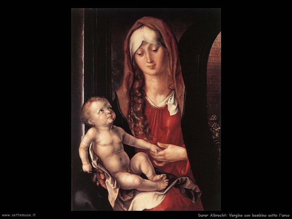 Vergine con bambino sotto l'arco
