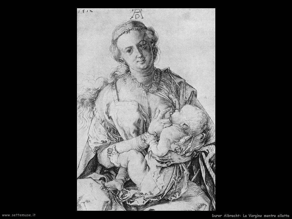 La Vergine mentre allatta