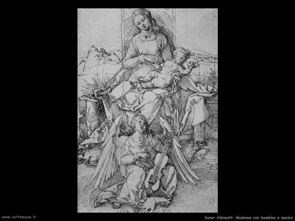 Madonna con bambino e musico