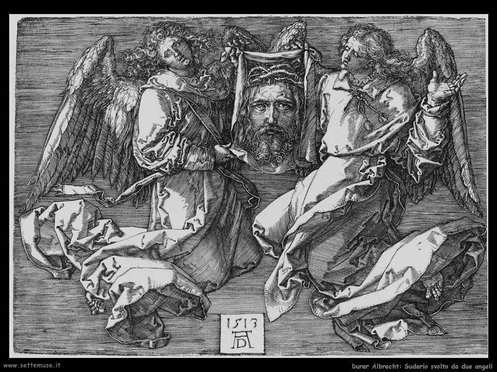 Sudario svolto da due angeli