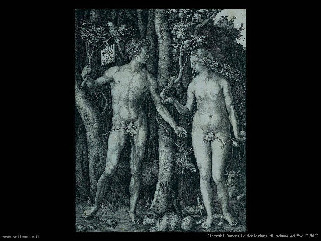 La tentazione di Adamo ed Eva (1504)
