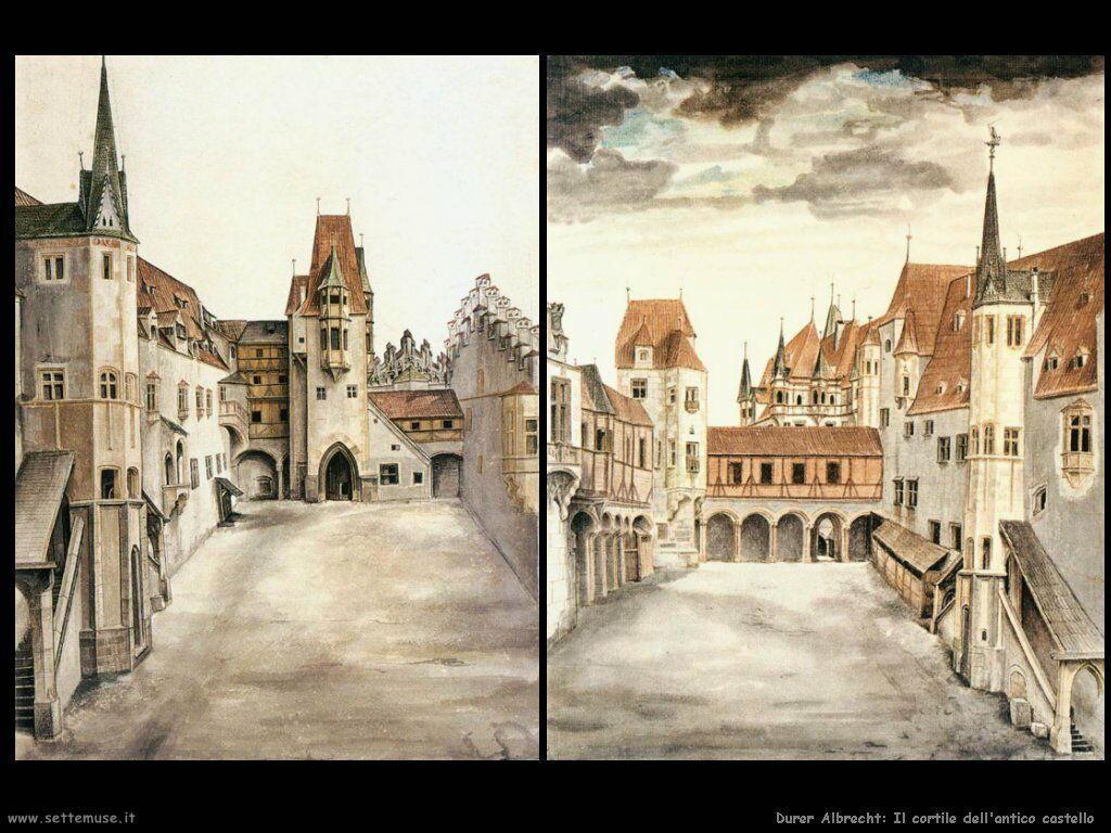 Cortile dell'antico castello