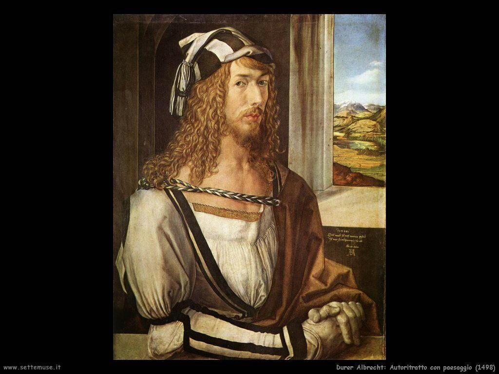 Autoritratto con paesaggio (1498)