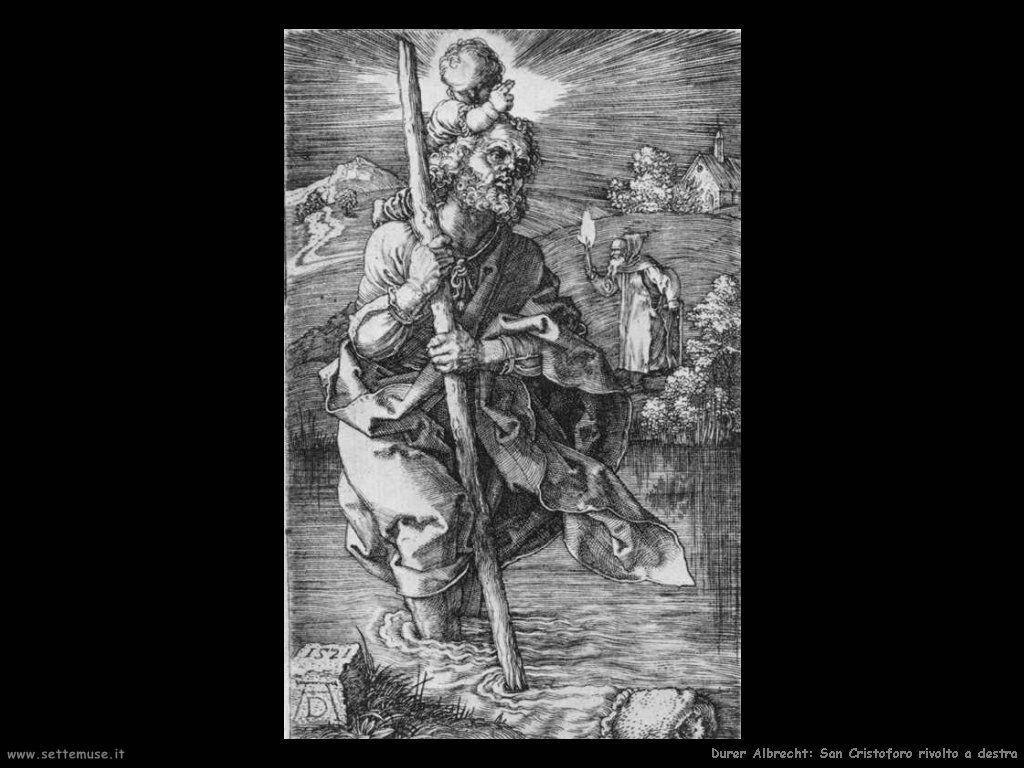 San Cristoforo rivolto a destra