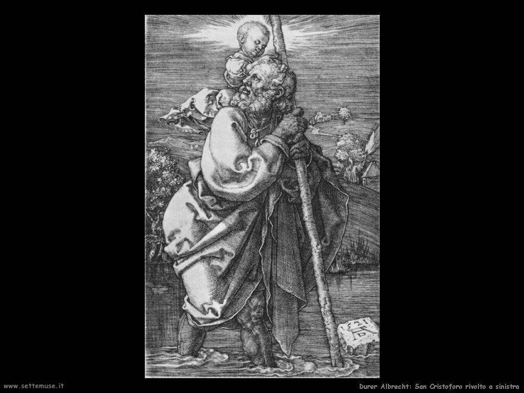 San Cristoforo rivolto a sinistra