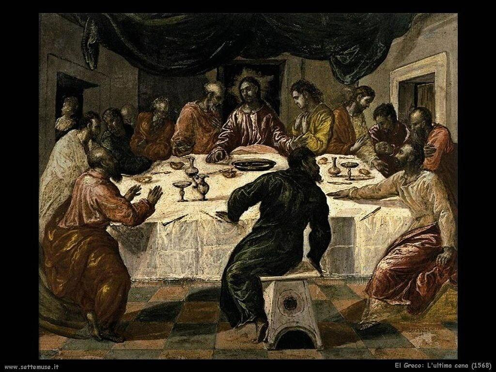 el greco ultima cena 1568