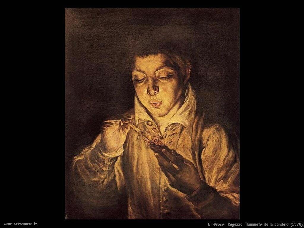 ragazzo illuminato dalla candela 1570