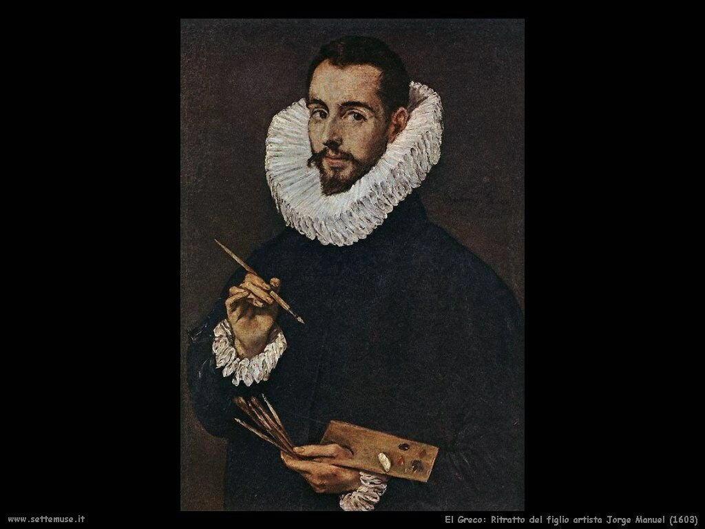 ritratto del figlio artista jorge manuel 1603