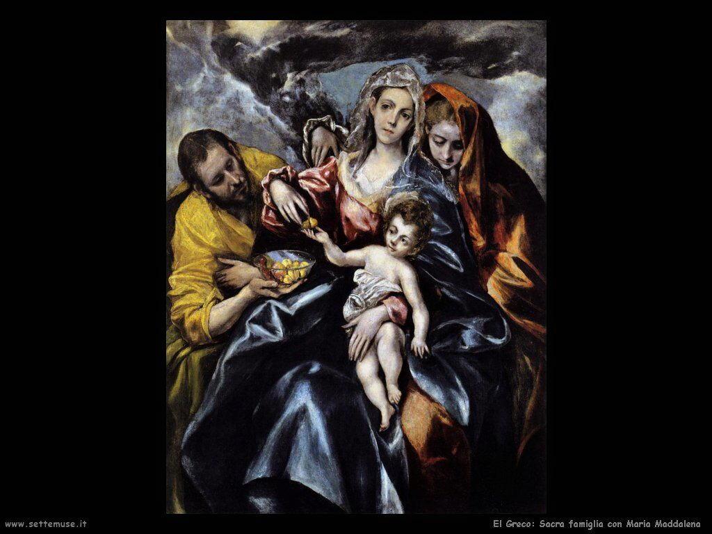sacra famiglia con maria maddalena