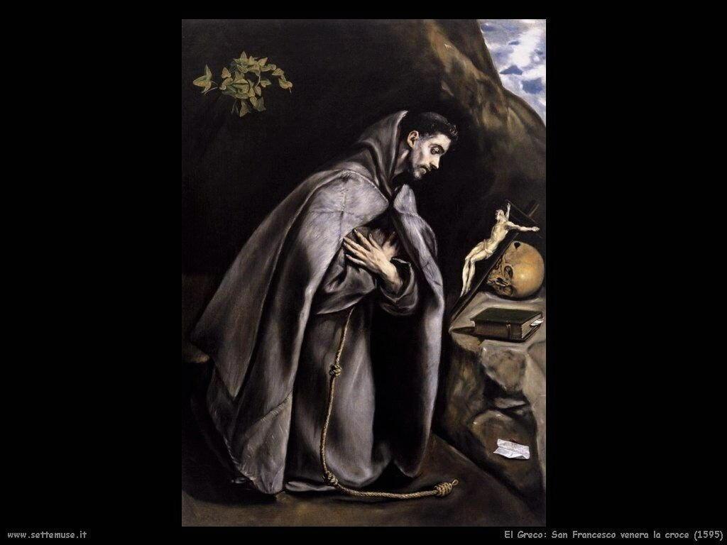 san francesco venera la croce 1595