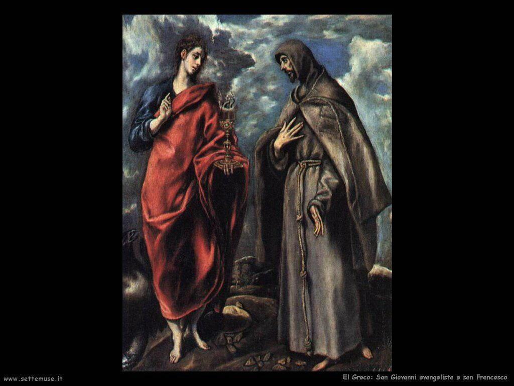 san giovanni evangelista e san francesco
