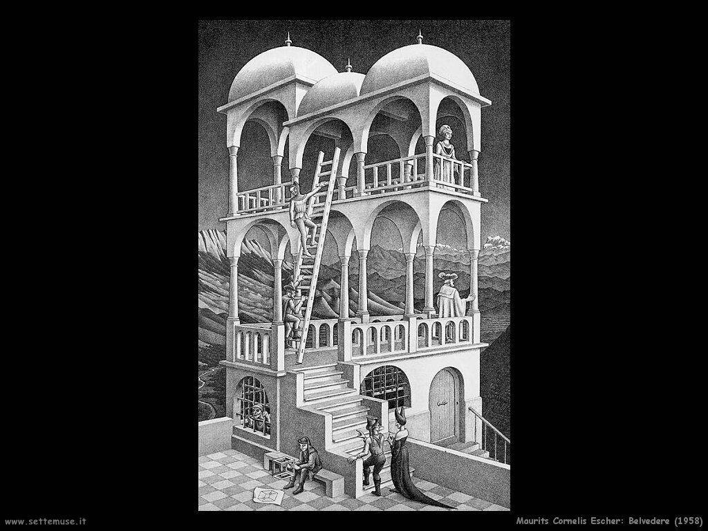 m c escher belvedere 1958
