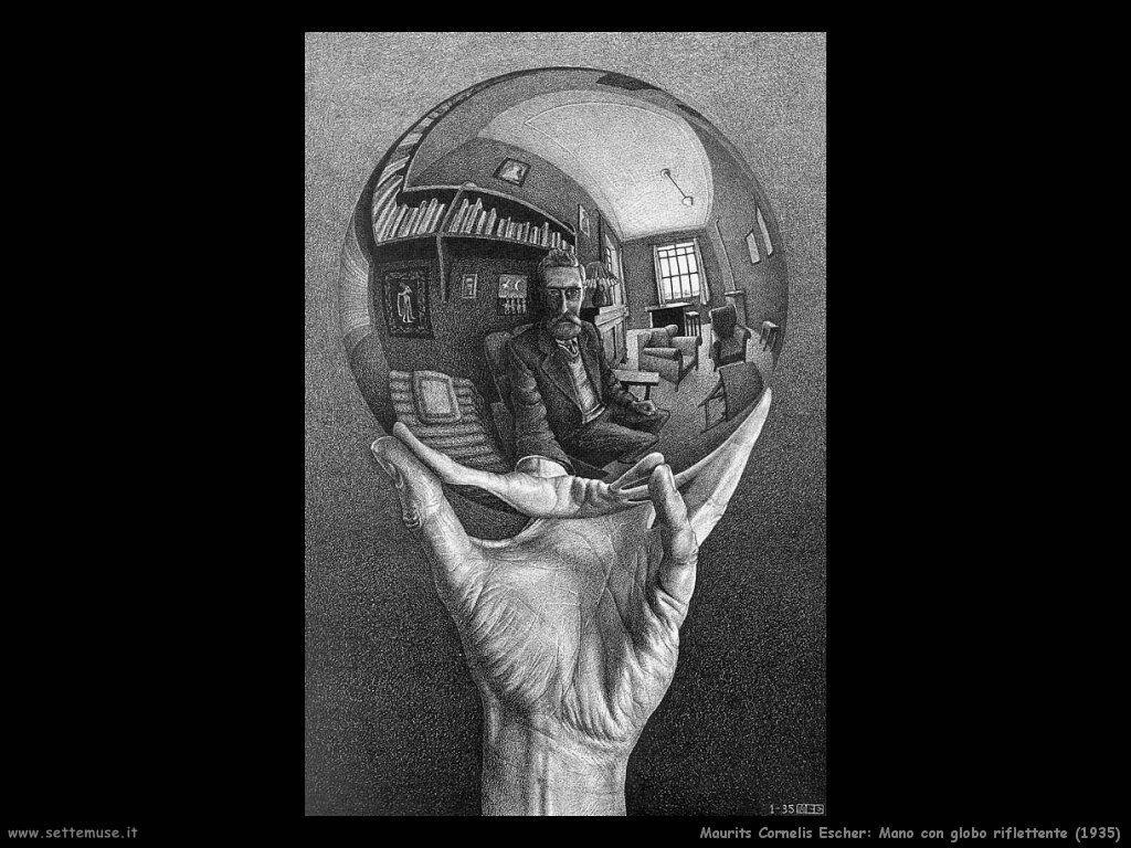 m_c_escher mano con globo riflettente 1935