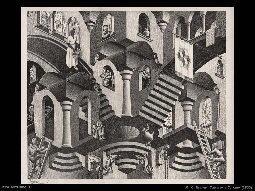 M. C. Escher convesso concavo