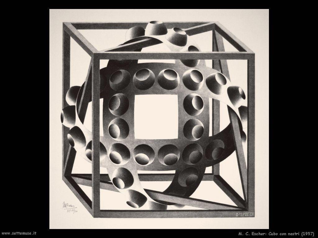 M. C. Escher Cubo con nastri