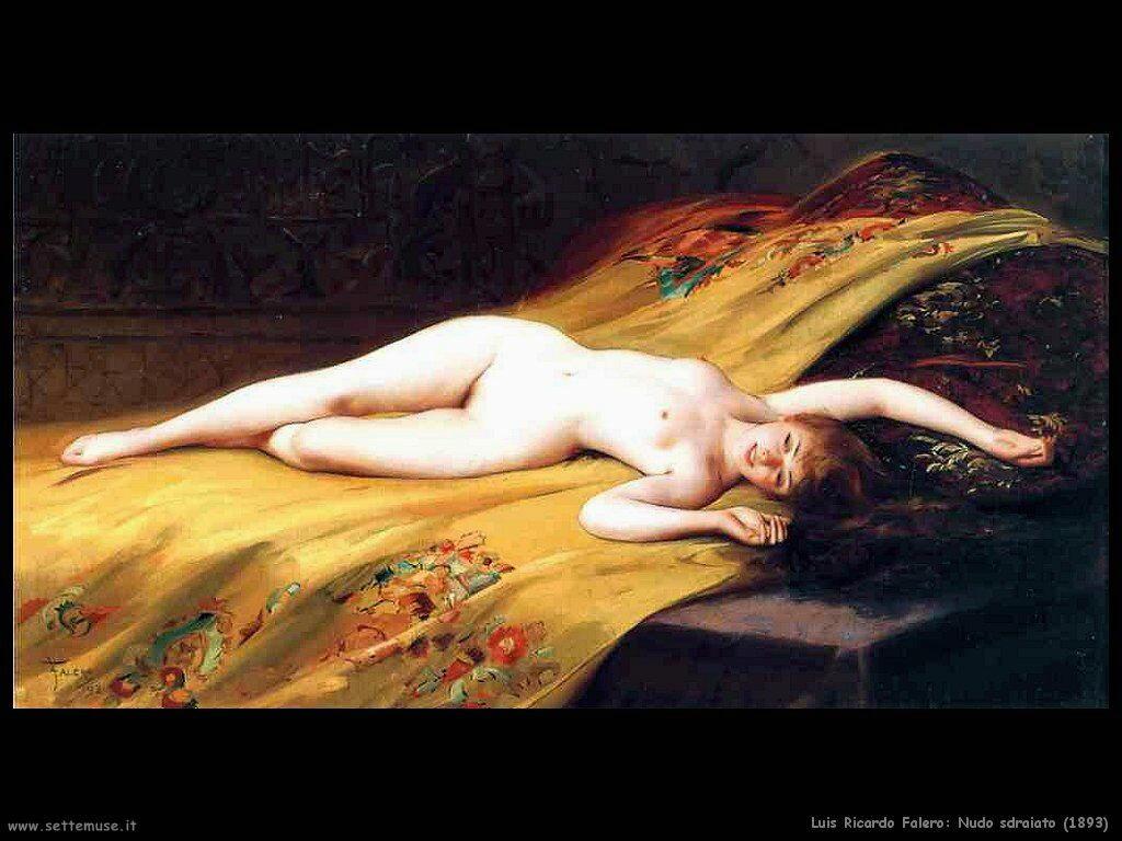 luis ricardo falero nudo sdraiato 1893