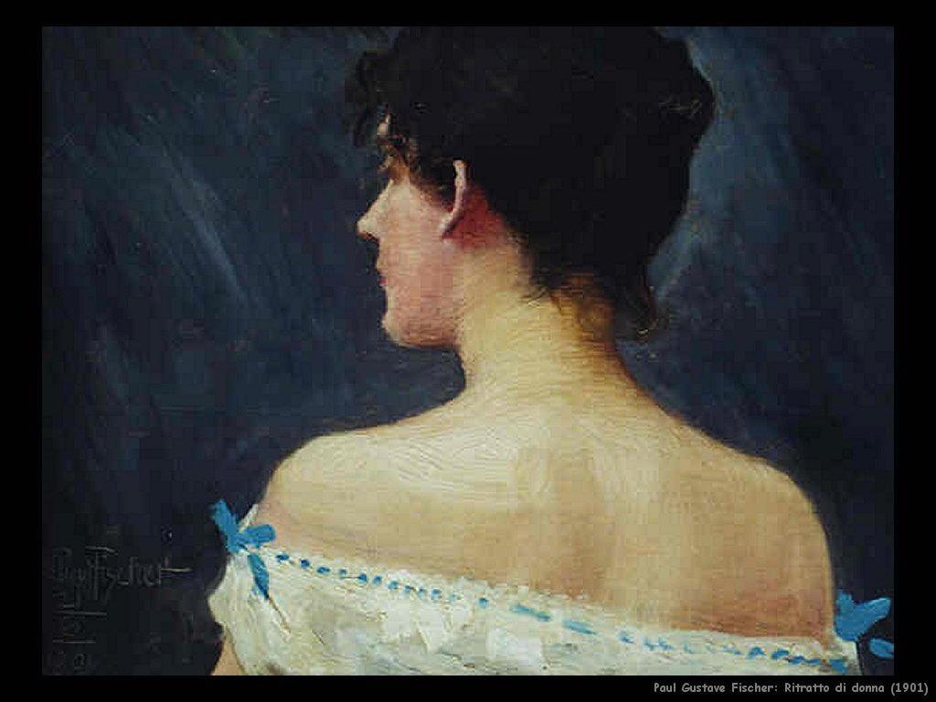 paul_gustave_fischer ritratto_di_donna_1901