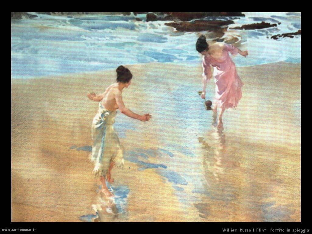 william_russell_flint_partita_in_spiaggia