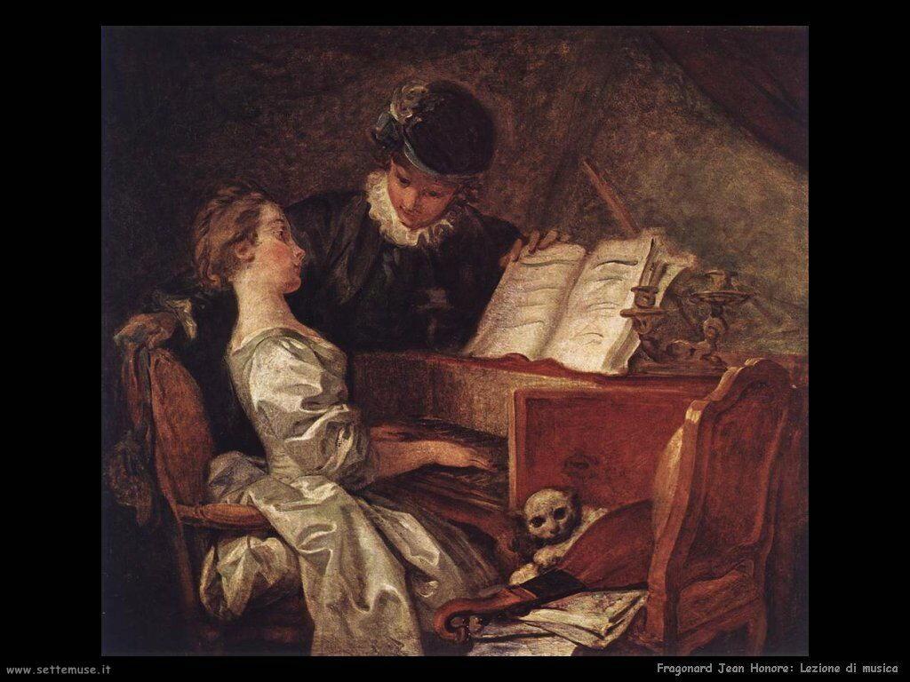 fragonard lezione di musica