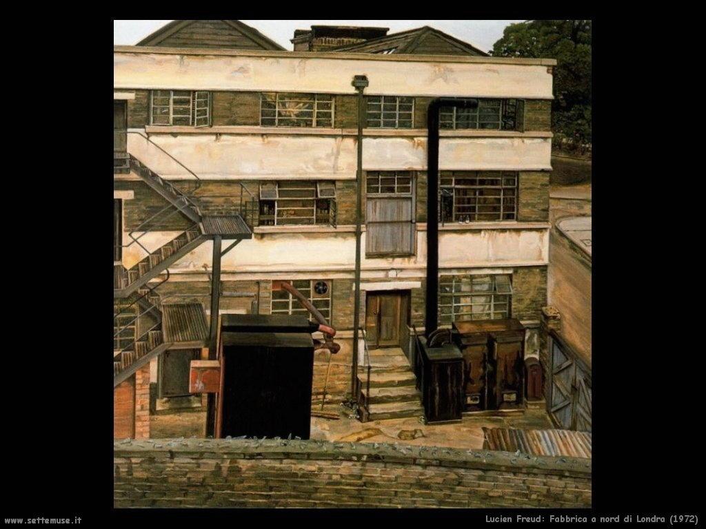 Lucian freud fabbrica a nord di londra 1972