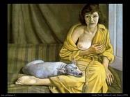 Lucian_freud_008_donna_con_cane_bianco_1952