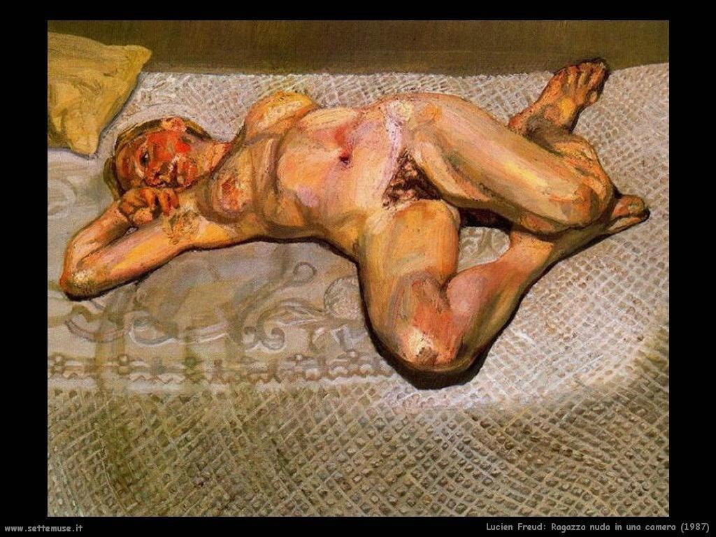 Lucian freud ragazza nuda in una camera 1987