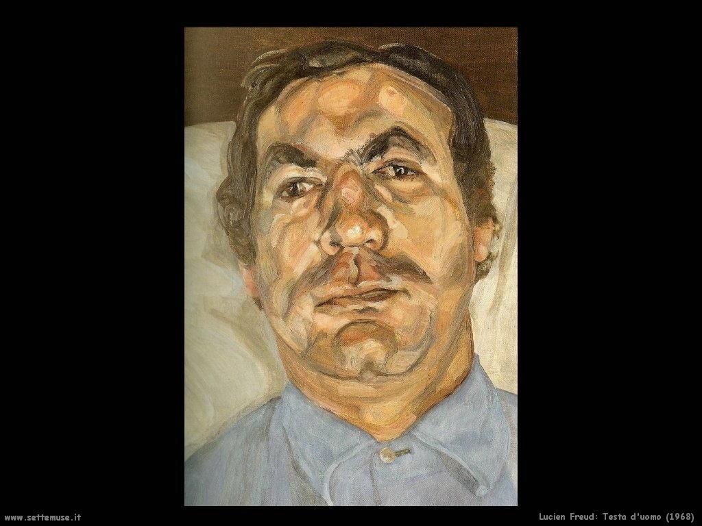 Lucian freud testa uomo 1968