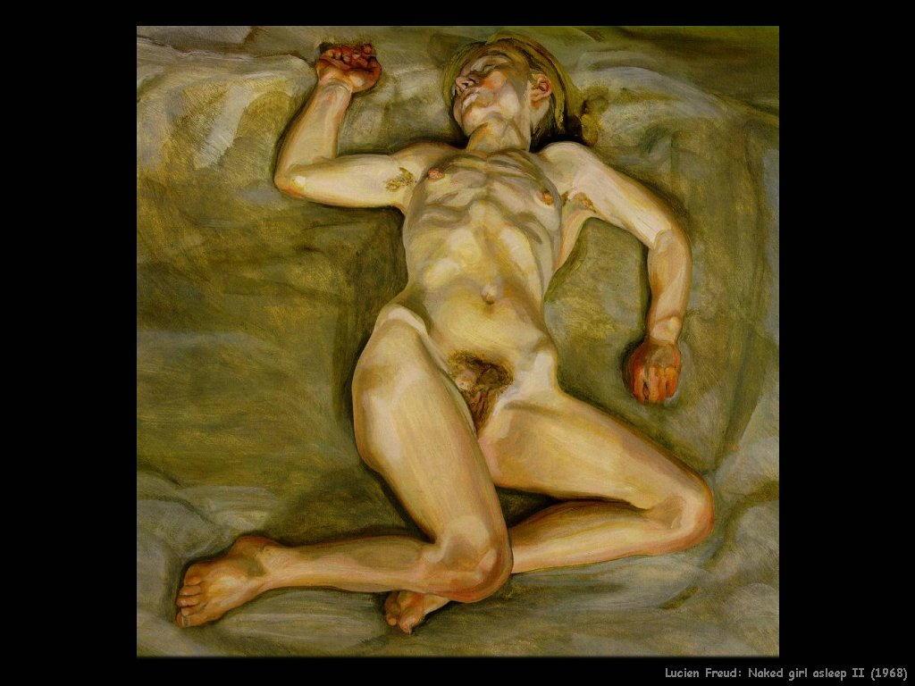 lucian freud donna nuda dormiente II 1968
