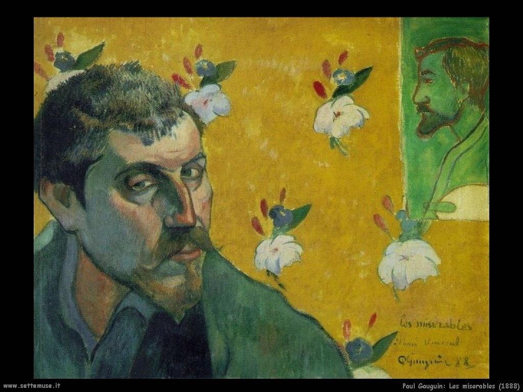 Paul Gauguin les miserables 1888