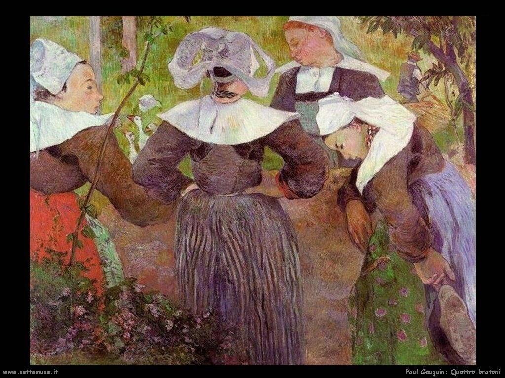 Paul Gauguin danza quattro bretoni 1888