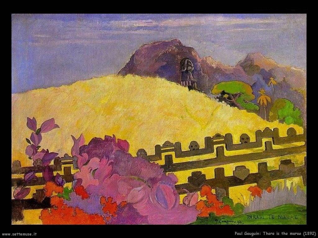 Paul Gauguin il marae(1892