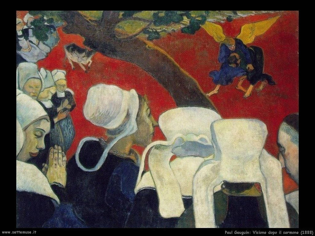 Paul Gauguin visione dopo il sermone 1888