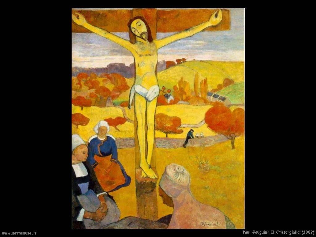 Paul Gauguin il cristo giallo 1889