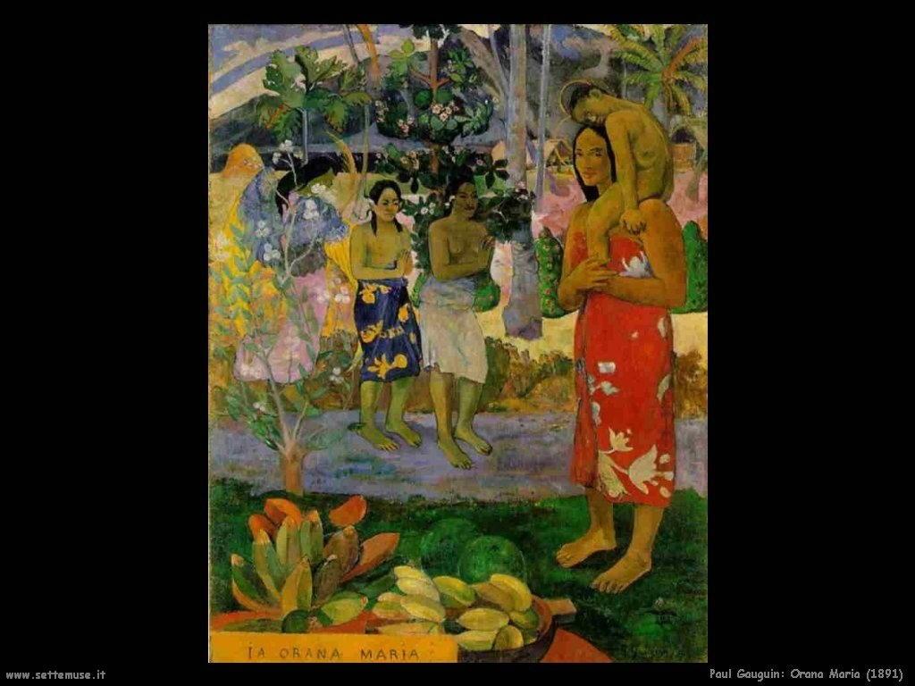 Paul Gauguin orana maria 1891