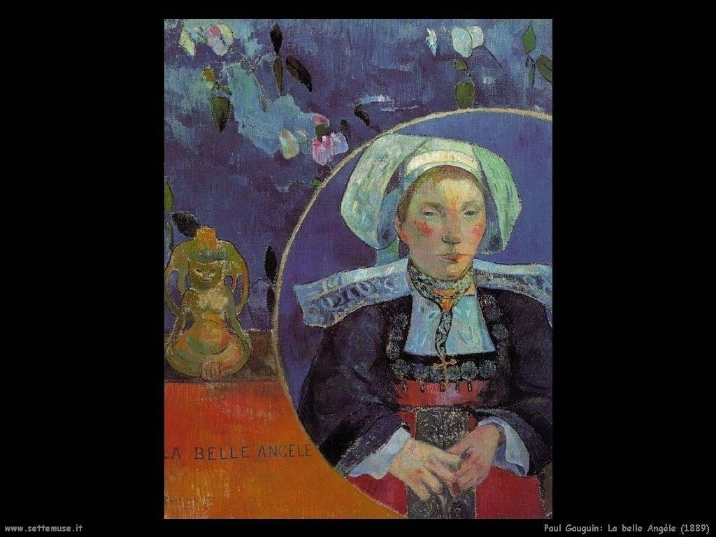 Paul Gauguin la belle angele 1889