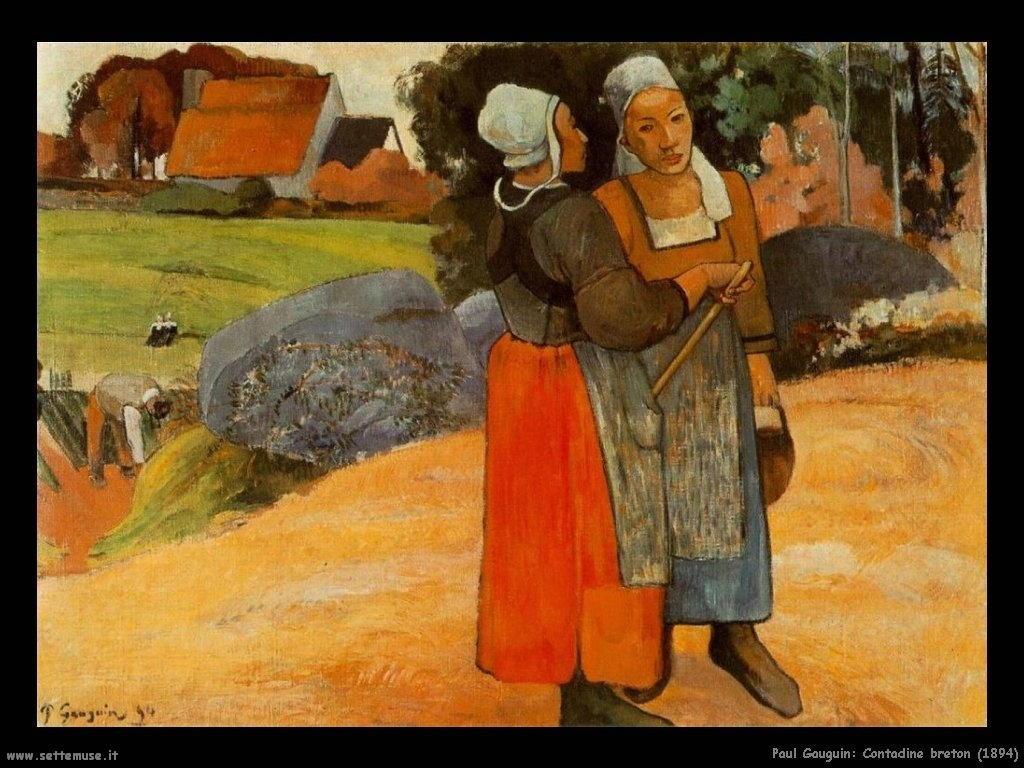 Paul Gauguin contadine bretoni 1894