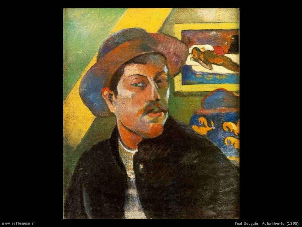 Paul Gauguin autoritratto dell artista 1893